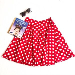 Minnie Mouse Polka Dot Circle Skirt